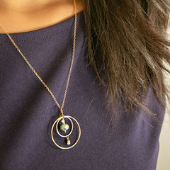 Golden Compass Necklace - Through the Trees