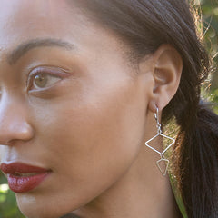 Golden Levity Earrings - Freshie & Zero | artisan handmade hammered jewelry | handmade in Nashville, TN
