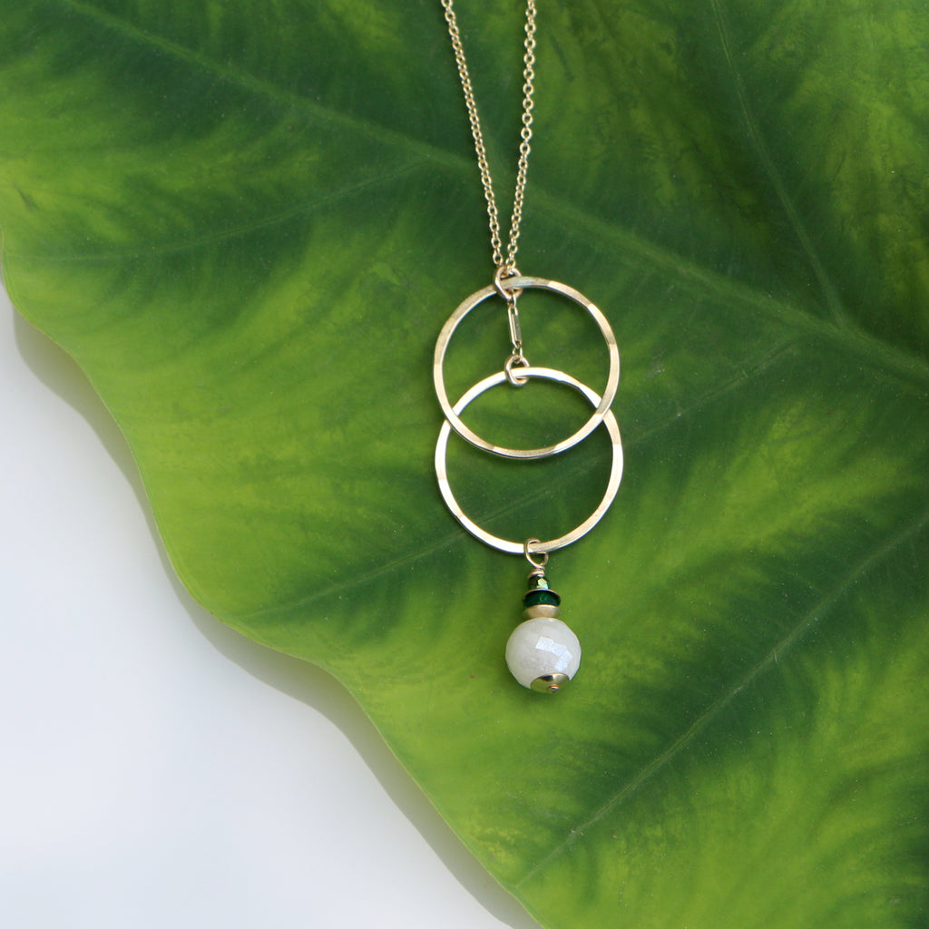 Grove Sunrise Necklace - Through the Trees - Freshie & Zero | artisan handmade hammered jewelry | handmade in Nashville, TN