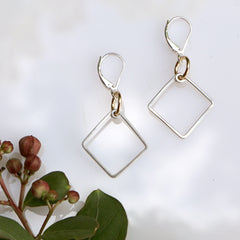Hopscotch Earrings - Freshie & Zero | artisan handmade hammered jewelry | handmade in Nashville, TN