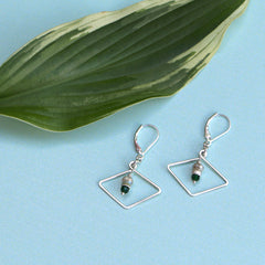 Horizon Earrings - Freshie & Zero | artisan handmade hammered jewelry | handmade in Nashville, TN