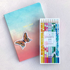 Clear Pink Swallowtail Butterfly Sticker - Freshie & Zero
