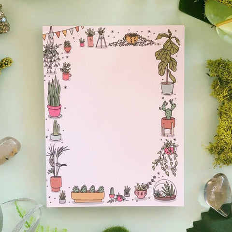 House Plants Illustrated Notepad