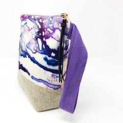 Large Hand Dyed Cosmetic Bag - Freshie & Zero Studio Shop