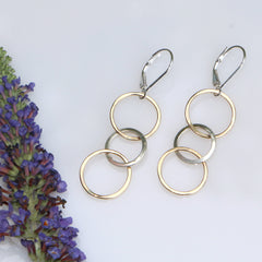 Joydrop Earrings - Freshie & Zero | artisan handmade hammered jewelry | handmade in Nashville, TN