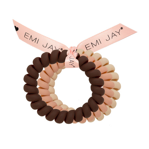 Large Matte Twist Hair Ties by Emi Jay