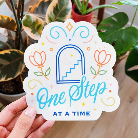 Suncatcher Sticker: One Step at a Time