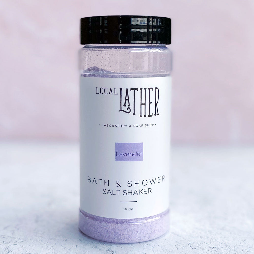 Bath & Shower Salt Shaker - Lavender - LAST ONE! - Freshie & Zero Studio Shop