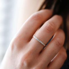 Breathe: Diamond Dusted Message Ring - Freshie & Zero Studio Shop