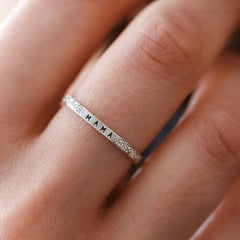 Mama: Diamond Dusted Message Ring - Freshie & Zero Studio Shop