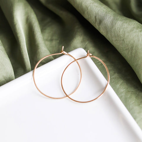 minimal hoops - medium circles