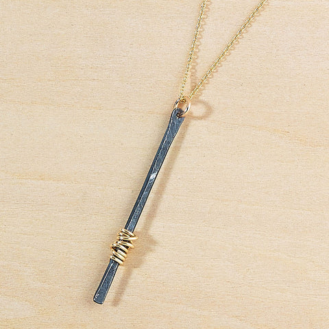 antique stem necklace