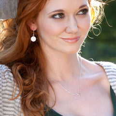 sisters necklace - Freshie & Zero | artisan handmade hammered jewelry | handmade in Nashville, TN