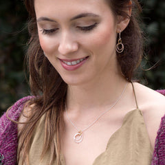flow necklace - Freshie & Zero | artisan handmade hammered jewelry | handmade in Nashville, TN