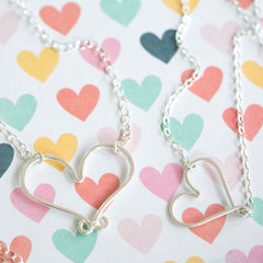 Cute handmade heart necklace