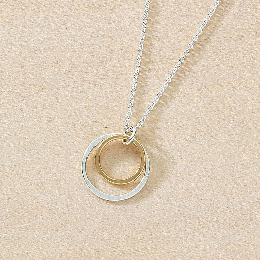 Tiny open circle pendant on simple chain