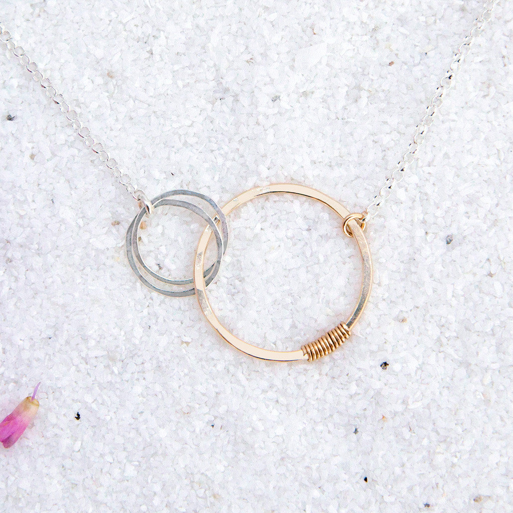 love necklace - mother of two - Freshie & Zero Studio Shop