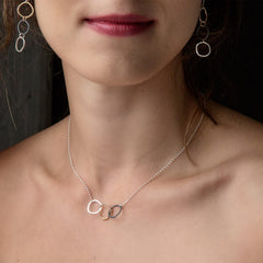 ramble necklace - Freshie & Zero | artisan handmade hammered jewelry | handmade in Nashville, TN