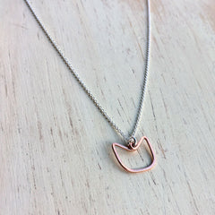 Solidarity PussyHat Project Necklace - Freshie & Zero | artisan handmade hammered jewelry | handmade in Nashville, TN