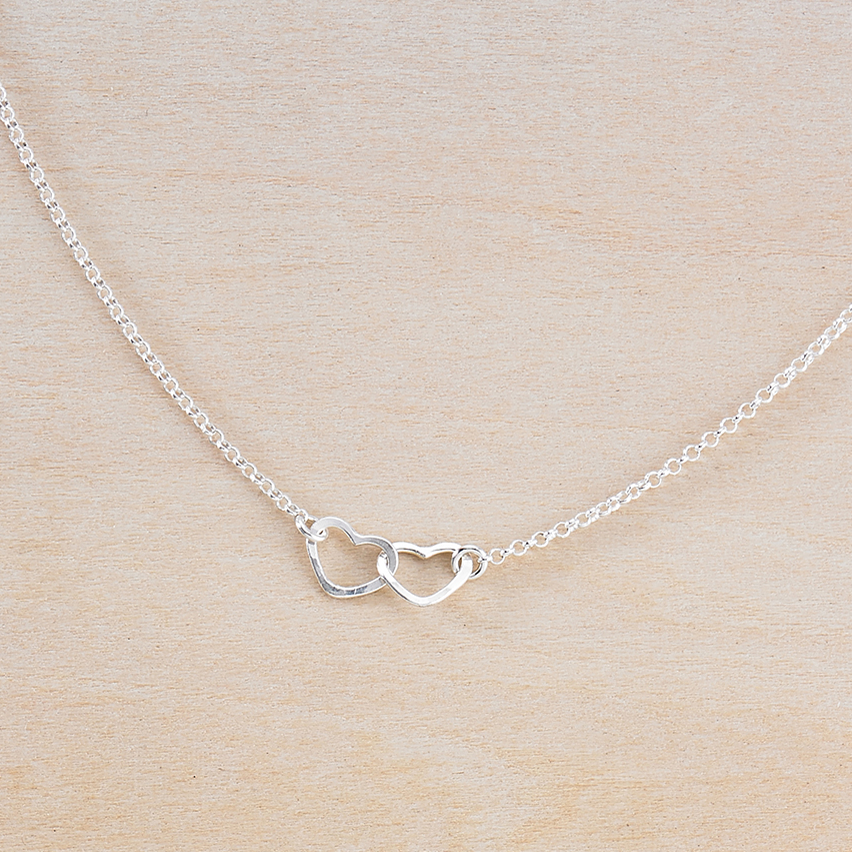 tiny hearts necklace - Freshie & Zero | artisan handmade hammered jewelry | handmade in Nashville, TN