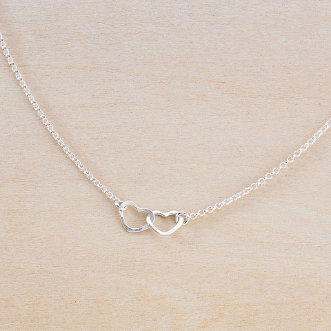 tiny hearts necklace