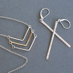 Simple handmade hammered jewelry