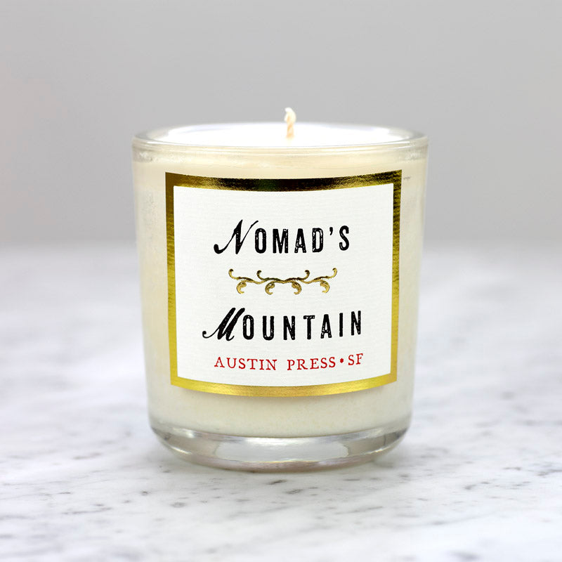 Candle - Nomad's Mountain - Austin Press - Freshie & Zero | artisan handmade hammered jewelry | handmade in Nashville, TN