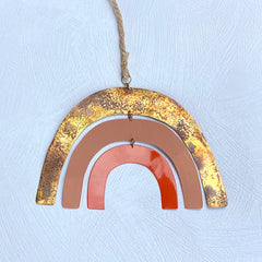 Sibilia Modern Brass Orange Rainbow Mobile - Freshie & Zero
