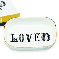 Typography Tray - Loved - Freshie & Zero | artisan handmade hammered jewelry | handmade in Nashville, TN