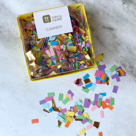 Rainbow Confetti with Gold
