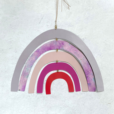 Sibilia Modern Brass Rainbow Mobile