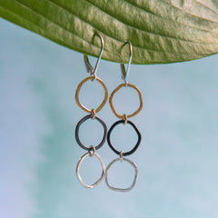 ramble earrings - Freshie & Zero | artisan handmade hammered jewelry | handmade in Nashville, TN