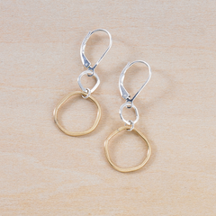 renew golden earrings - Freshie & Zero | artisan handmade hammered jewelry | handmade in Nashville, TN