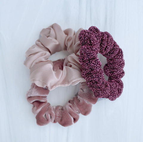 Small Satin Hair Scrunchie