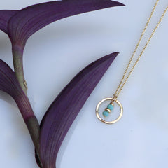 Seedling Sky Necklace - Through the Trees - Freshie & Zero | artisan handmade hammered jewelry | handmade in Nashville, TN