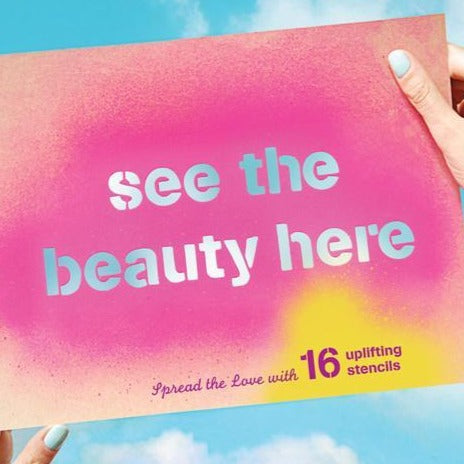 See the Beauty Here: Spread the Love with 16 Uplifting Stencils
