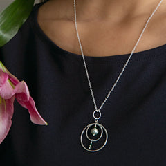 Silver Compass Necklace - Freshie & Zero Studio Shop