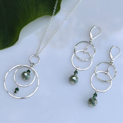 Silver Compass Necklace - Through the Trees - Freshie & Zero | artisan handmade hammered jewelry | handmade in Nashville, TN