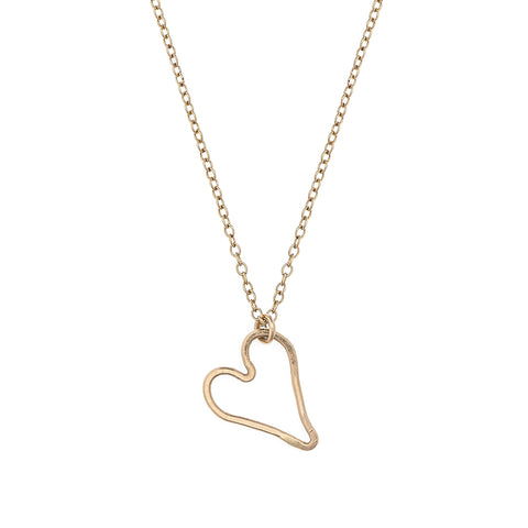 small modern heart necklace