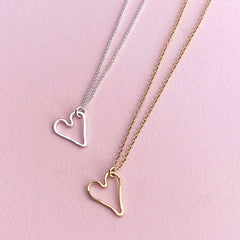 small modern heart necklace - Freshie & Zero