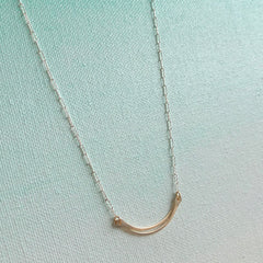 Sparky Mini Vessel Necklace - Freshie & Zero | artisan handmade hammered jewelry | handmade in Nashville, TN