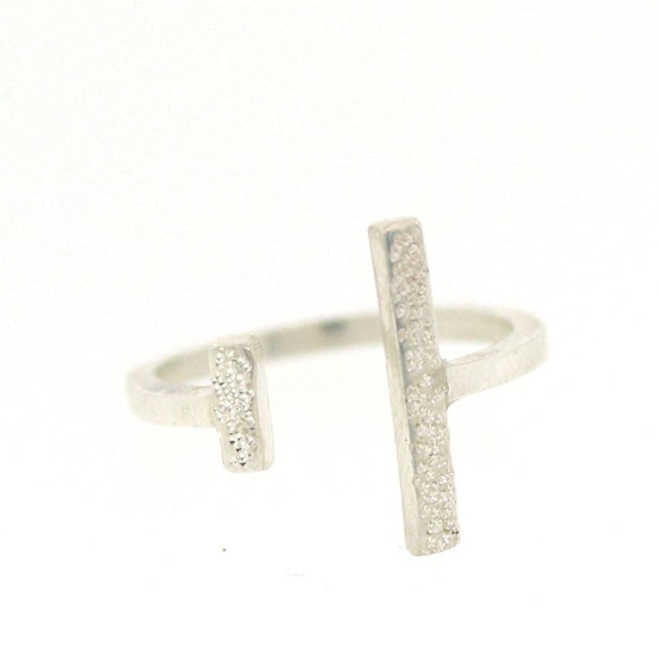 Diamond Dusted: Adjustable Message Ring by Christina Kober - Freshie & Zero Studio Shop