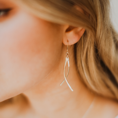 surf earrings - Freshie & Zero | artisan handmade hammered jewelry | handmade in Nashville, TN