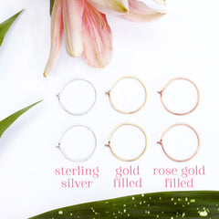 Rose gold filled hammered wire jewelry made in Nashville