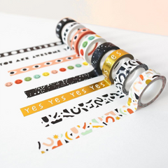 Confetti Pattern Washi Tape - Color + Gold Foil - Freshie & Zero Studio Shop