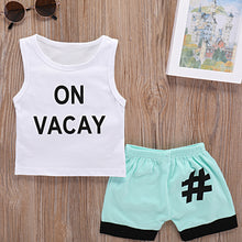 Load image into Gallery viewer, Summer Baby Boy Toddler Letter Print Two Pieces Tank Top and Shorts Clothes Set