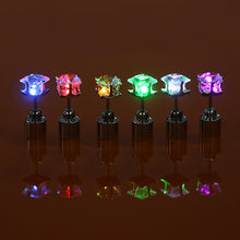 Load image into Gallery viewer, LED Light Ear Studs Square Earrings for Dance Christmas Halloween Party