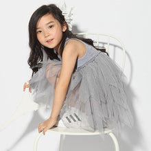 Load image into Gallery viewer, Girls Fashion Summer Clothes Kids Gray Sleeveless Mesh Tulle Skirt Party Tutu Dress