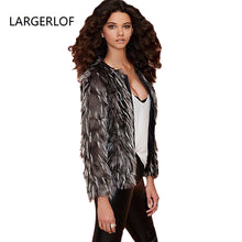 Load image into Gallery viewer, New Fashion Winter Lady Fur coat Women's  Leather Jacket Overcoat Girl's black Fur Coat size s-xxxl