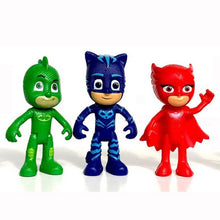 Load image into Gallery viewer, New Arrival 6pcs/set 8-9cm Pj Masks Characters Catboy Owlette Gekko Cloak Action Figure Toys Boy Birthday Gift Plastic Dolls